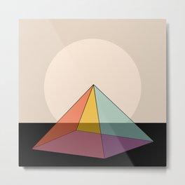 Pyramid Sunrise Metal Print