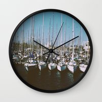 boats Wall Clocks featuring Boats by usfromars