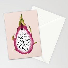 Dragon Fruit Illustration - Pitaya - Exotic - Blush Background Stationery Cards