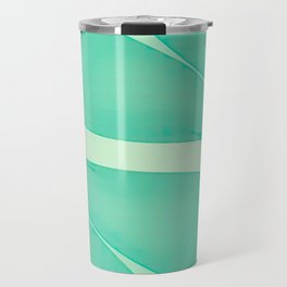 Abstract flowing ribbons in mint green Travel Mug