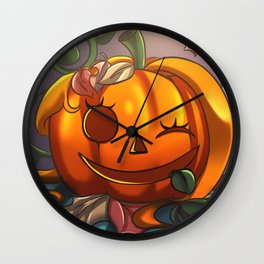 Orange Pumpkin Wall Clock