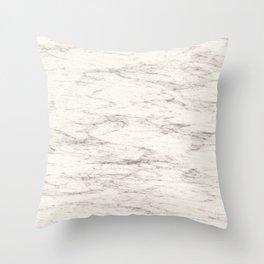 Elegant beige cracked marble Throw Pillow