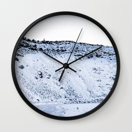 Kerid Crater In Winter, Iceland Wall Clock