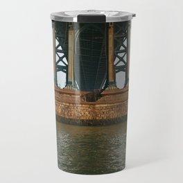 America's Cathedrals - Manhattan Bridge Travel Mug