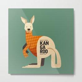 Hello Kangaroo Metal Print