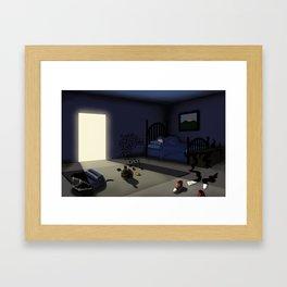 Fear of the Dark Framed Art Print