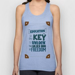 Lab No. 4 Education Is the Key George Washington Carver Inspirationa Quote Unisex Tank Top