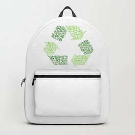 Recycling Artwork Logo Backpack