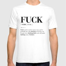 FUCK Mens Fitted Tee MEDIUM White