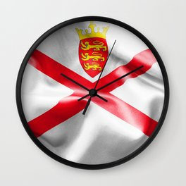 Jersey Flag Wall Clock