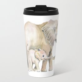 Mom and Baby Elephant 2 Travel Mug