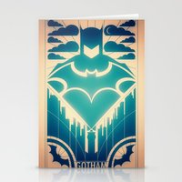 gotham Stationery Cards featuring Gotham by Lazare Gvimradze