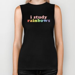 """I study rainbows"" (Harry Styles) Biker Tank"