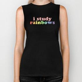 """I study rainbows"" (Harry Styles) Biker Tank"
