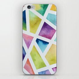 Watercolor Geometric Painting iPhone Skin