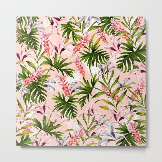 Tropical nature pattern Metal Print