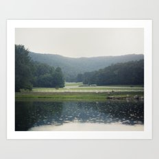 Horses in the Great Smoky Mountains Art Print