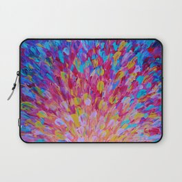 SPLASH, Revisited - Bold Beautiful Feminine Romance Ocean Beach Waves Magenta Plum Turquoise Crimson Laptop Sleeve