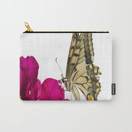 Swallowtail Butterfly On Bougainvillea Carry-All Pouch