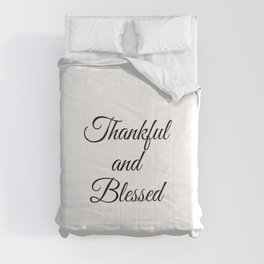 Thankful & Blessed, christian, jesus, faith gifts Comforters