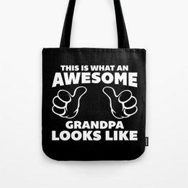 Awesome Grandpa Looks Like Quote Tote Bag