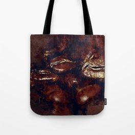 big coffee beans splatter watercolor Tote Bag