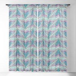 Fish tales 1b Sheer Curtain