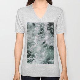 Silky Waves Unisex V-Neck