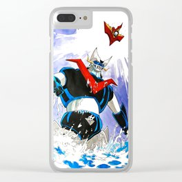 The Great Mazinger and Brian Condor Clear iPhone Case