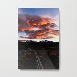 Sunset Over Telluride Metal Print