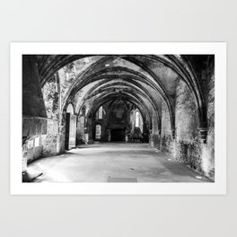 Abbey's cellar Art Print