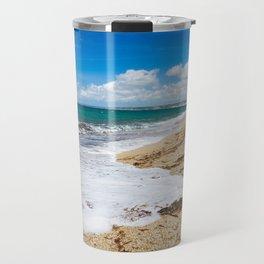 Waves on Cornish Beach Travel Mug