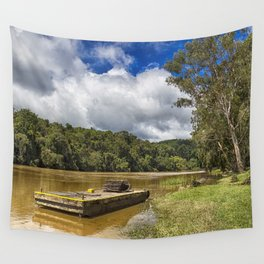 Pontoon on the Barron River Wall Tapestry