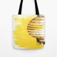 lantern Tote Bags featuring Lantern by Emma Stein