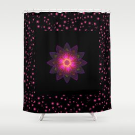 Abstract purple flower 03 Shower Curtain