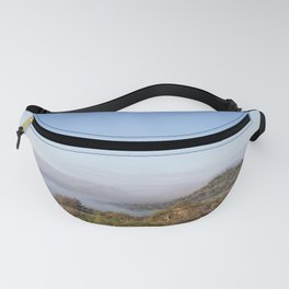 Fog Meets Hill in travel up valley floor, Butte County Fanny Pack