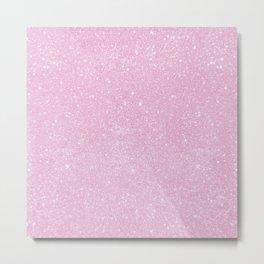 Pastel Pink Pearl Glitter Metal Print