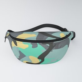 An Intuitive Composition about a Cloudy Day in Early Spring Fanny Pack