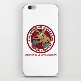 Boxing Kangaroo Coffee Company iPhone Skin
