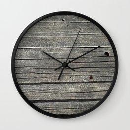 Charred Tree Wall Clock