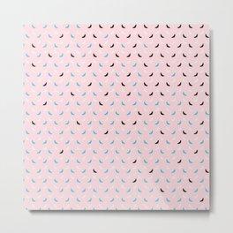Little Candy Bat Pattern on Pink Metal Print