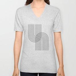 Abstraction_LINE_CONNECT_POP_ART_008K Unisex V-Neck