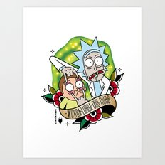 Traditional Rick and Morty  Art Print