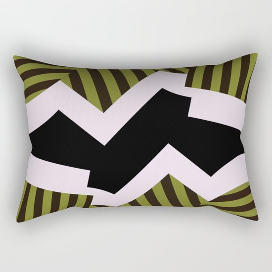 Bold Stripes - Black and white, brown and khaki stripes, abstract geometry Rectangular Pillow