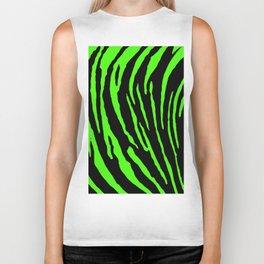Green Tiger Stripes Biker Tank