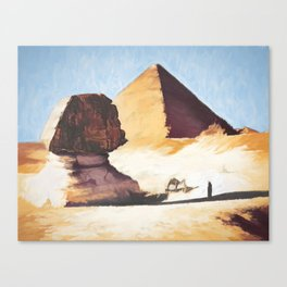 The Great Sphinx And Pyramid Canvas Print