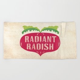 Radiant Radish Beach Towel