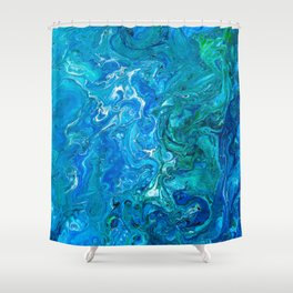 Elegant Crazy Lace Agate 2 - Blue Aqua Shower Curtain