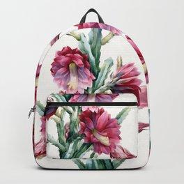 Flowering cactus Backpack