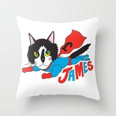 Super James Throw Pillow